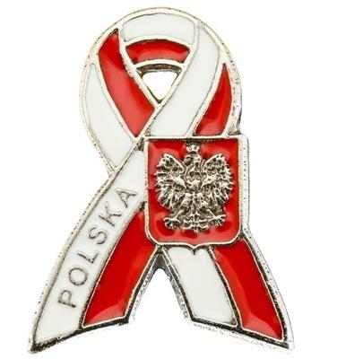 Pin застежка wpinka Марку польский  лента ЭМБЛЕМА