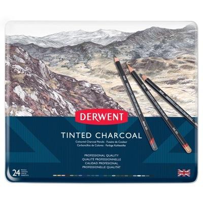 DERWENT - Charcoal 24 штук Цветной уголь в вызывает угревой сыпи