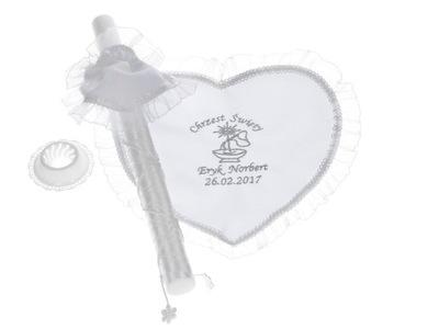 Krstiny - Krst KOMPLET vyšívaný svadobný krém na krst