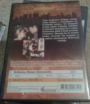 GRZESZNIK (ORDINARY SINNER) DVD film Melodramat