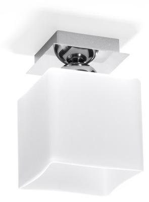 Svietidlá stropné svietidlá - Plafon PIAZZA 1 biała kostka lampa chrom SOLLUX