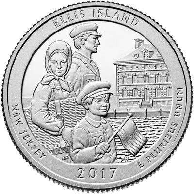 USA 25 c Park narodowy Ellis Island 2017 nr 39