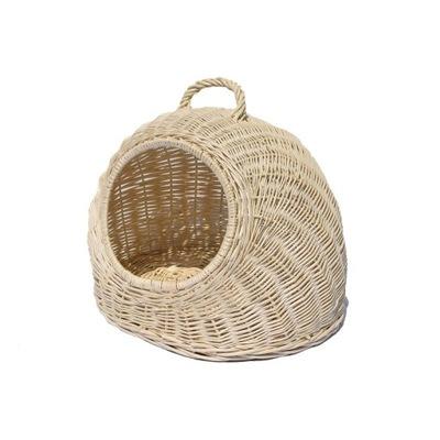 будка плетеная бежевый 40 см для собаки или кошки.