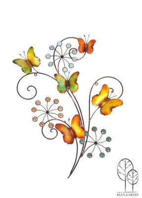 Dekorácia do záhrady - Motýle a kvety ORNAMENT WALL HOUSE záhradná terasa