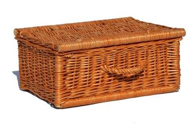 Úložný box - Walizka wiklinowa NESESER  KOSZ PIKNIKOWY 25x16 cm
