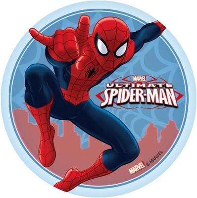 вафля ТОРТ Человек-паук КРУГ крупный 20CM разные