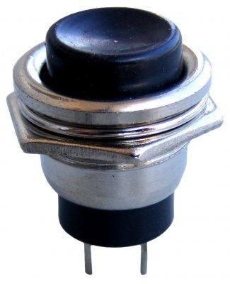 Przełącznik okrągły Reset metal CZARNY 230V(0582)