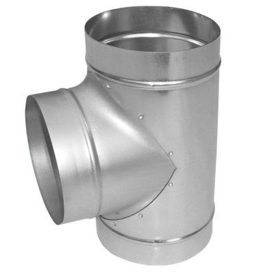 Potrubie, rúra, spona - T-kus T 3x 200 pozinkovaný krb SPIRO TERMOFLEX