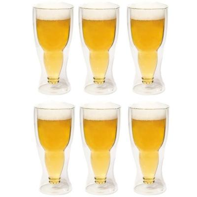 Pivo okuliare tepelnej hrnčeky na pivo Pivo 500 ml 6pcs