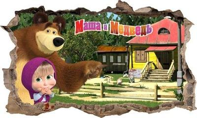 Nálepka Máša a medveď 3D XXXXXXL 166 x 100cm