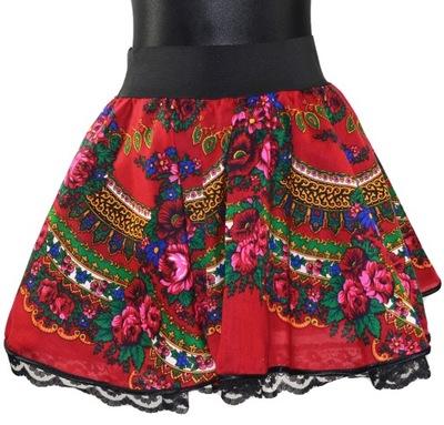 8d97109c Spódnica mini folk góralska Cleo czarna M 38 - 7838635813 ...
