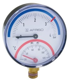 THERMOMANOMETER 20-120 ° C 0-4bar DISK 80mm AFRISO