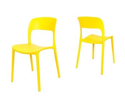 Žltá stoličky na terase FLEXI UFO KR022 ZOL