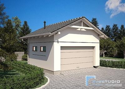 Bardzo dobry Projekt garażu 35 m2 - BEZ POZWOLENIA ! - 7006425948 - oficjalne JR65