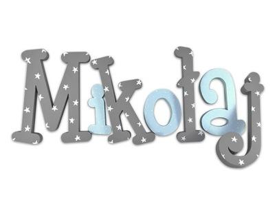 3D ornament do izby - 3D písmená 20cm názov dieťaťa NEJU 7ks. + ZADARMO!
