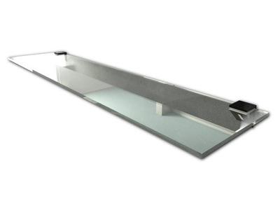 полка СТЕКЛЯННАЯ для ванны под зеркало душ 40x14