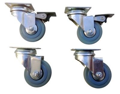 комплект колес 50 мм 4 штук Серые 160 КГ Тормоз кольца