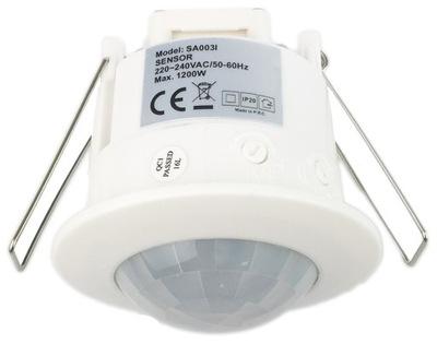 ДАТЧИК движения с потолка 360   для строить - для LED