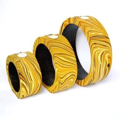Svietniky sada 3 kusov CND180A orient žltá