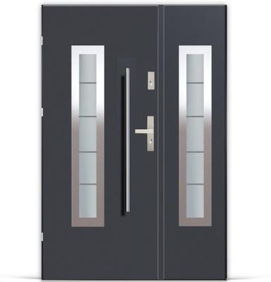 двери ДВУСТВОРЧАТЫЕ APOLLO LUX Стали ПЕРИЛА