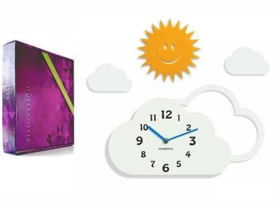 Detské hodiny, budík - Detské hodiny Mraky a slnko pre deti