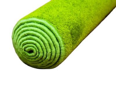 Koberec do detskej izby - Zelený mäkký koberec DYNASTY 100x250 pre deti