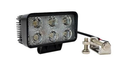 Лампа рабочая галоген LED 18 Ват 12 V - 24 V