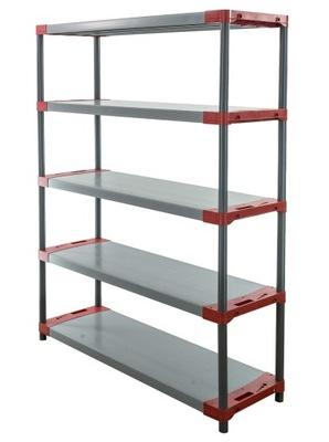Regál - polica -  Skladovací stojan ako kov Titanium-5 180x130x46
