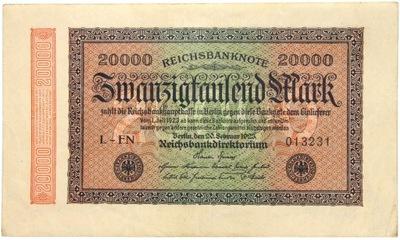 Niemcy - BANKNOT - 20000 Marek 1923