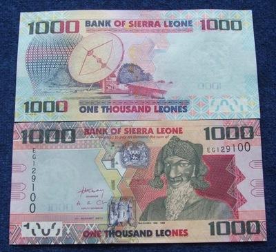 БАНКНОТА СЬЕРРА-ЛЕОНЕ 1000 LEONES !!! UNC !!! супер