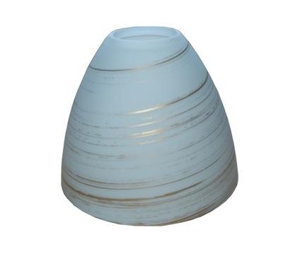 Абажур стеклянный Белый конус декоративный для ламп E27