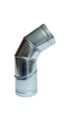 Koleno nastaviteľné 0-90 stupňov 110 mm kapota spiro had