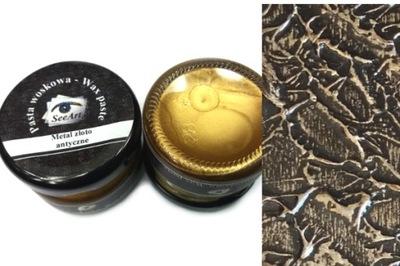 Pasta woskowa SeeArt 20 ml. Metal Złoto Antyczne