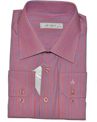 Modne ubrania 43/44 Koszula Męska ŁOSOSIOWA Długi Rękaw od KNKK - 6912513576 PW93