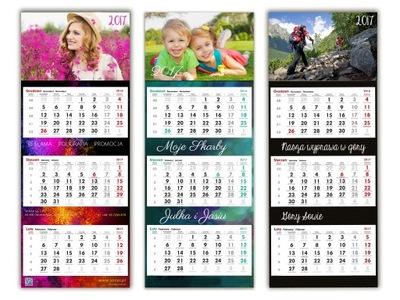 3x Foto-Kalendarz Trójdzielny 2017 Twoje Zdjęcia