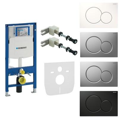 Montážny rám pre závesné WC - GEBERIT DUOFIX UP320 WC tlačidlo SIGMA WC +