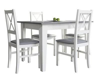 белый стол rozkladany со стульями