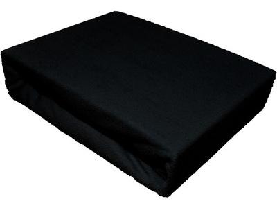 Plachta - Prześcieradło 200x160 frotte z gumką czarne
