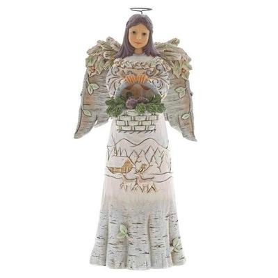 Рождественский Белый ангел хранитель леса, art Jim Shore