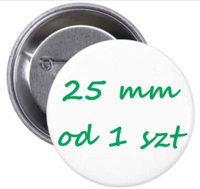 FOTO BUTTON znaczek przypinka pins - 25mm od 1 szt