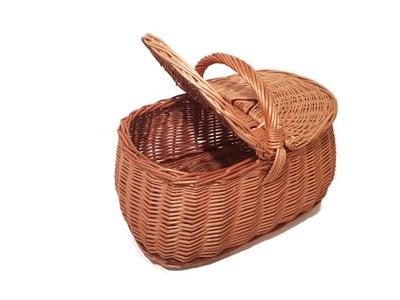 плетеный корзина для пикника покупки закрывается подарок