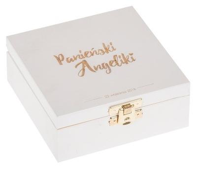 Organizér, kufrík, skrinka - PUDEŁKO 12x12cm prezent WIECZÓR PANIEŃSKI IMIĘ