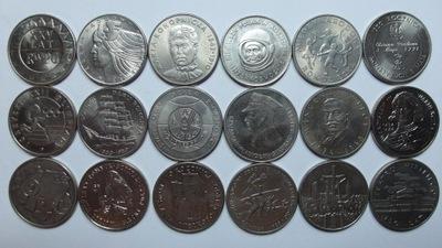 Zestaw 18 monet okolicznościowych mennicza stan 1-