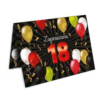 Zaproszenia na 18 urodziny- 2 sztuki