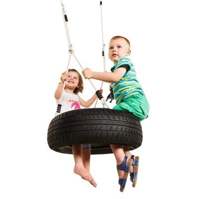 Hojdačka pre deti - Oponka hojdačka, pneumatika na výkyv na horizontálne lano