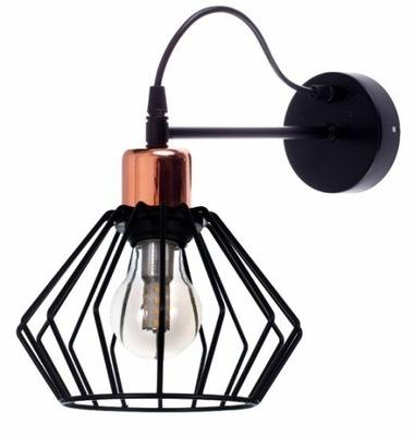 SCONCE STENY STROPNÉ svietidlo Čiernej a Medi LED E27