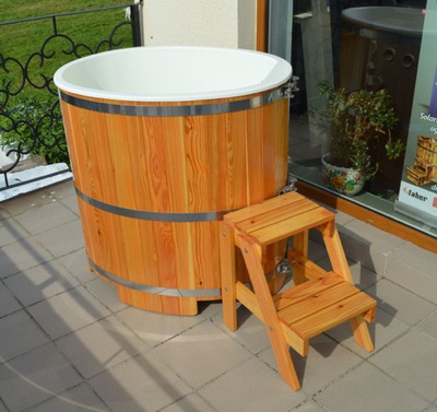 Schładzająca nádoba pre sauna - drevená, záhradný