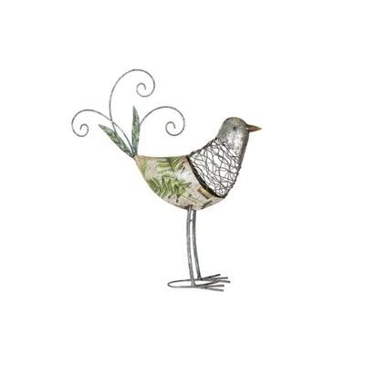 Záhradná dekorácia - BIRD WIRE FLEUR FIGURKA DEKOR OZDOBA ZAHRADNÝ DOM