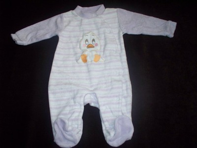 BABY CLUB C&A pajac welurowy welur 56 fiolet