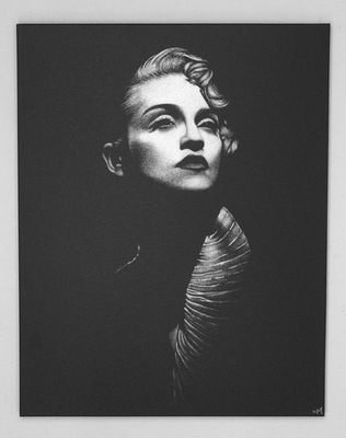 Мадонна Картина вручную гравированный в противень ...